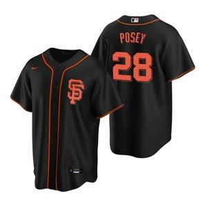 San Francisco Giants Buster Posey Jersey Black